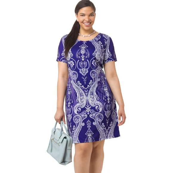 887dd5bc99a5f Spruce and Sage Dresses | Royal Paisley Printed Shift Dress | Poshmark